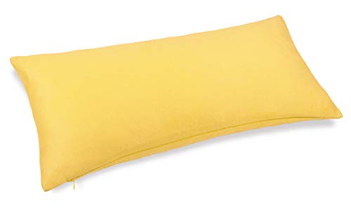 Aiking Home Collection Creative Luxury Faux Suede Decorative Pillow Cover - 12 by 24 Yellow