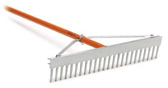 AccuSmooth 36'' Landscape Rake with 66'' Aluminum Handle