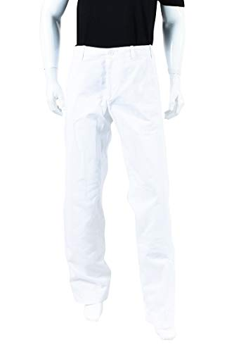 DRIES VAN NOTEN Mens Men's White Cotton Wide Leg Trousers SZ ()