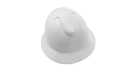SAS Safety 7160-10 Full Brim Hard Hat with Ratchet, White