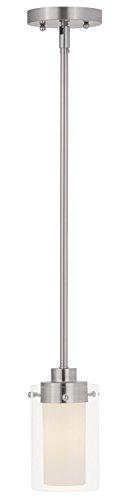 Livex Lighting 1540-91 Manhattan 1 Light Mini Pendant, Brushed Nickel - Beyond Modern Pendant Lighting