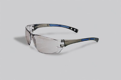 Radnor® Cobalt Classic Series Safety Glasses With Charcoal Frame, Clear Indoor/Outdoor Anti-Fog Lens And Adjustable Temple