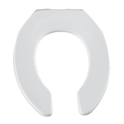 Bemis B955CT000 Round Open Front Less Cover Toilet Seat in - Bemis Round Open Front