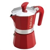 Pedrini: 2 Cups Espresso Coffee Pot, Red Colour