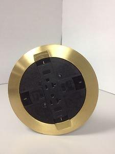 Rc7atcbs Wiremold Flush Mount Poke Thru Polished Brass