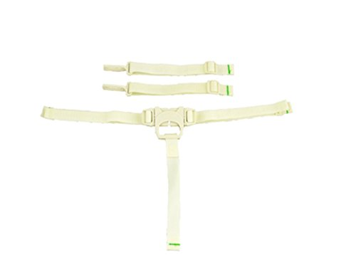 Fisher Price Space Saver High Chair Replacement (SPACE SAVER STRAPS-CREAM BJX68) ()