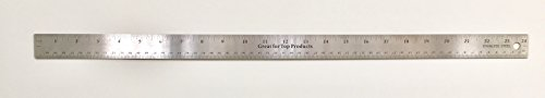 GTP Metal Ruler Stainless Steel With Slip Cork Base - BULK, inches and metric (1 each 18'') by Great for Top Products (Image #1)