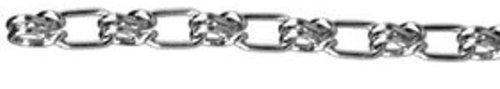 ASC MC1274041 Low Carbon Steel Lock Link Single Loop Chain, Galvanized, 4/0 Trade, 5/32'' Diameter x 100' Length, 485 lbs Working Load Limit