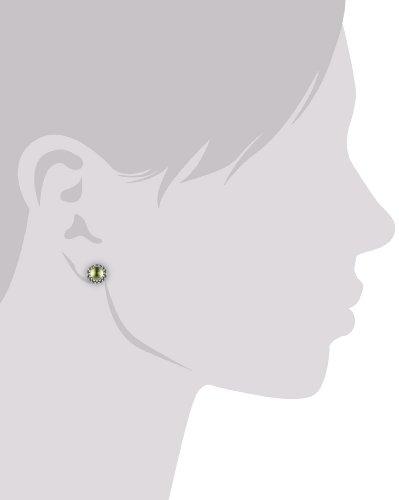 Pandora - 290543PE - Boucles d'Oreille Femme - Argent 925/1000 - Peridot