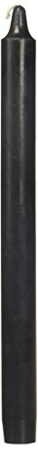 Zest Candle 12-Piece Taper Candles, 10-Inch, Black Straight (Candles Taper Black)