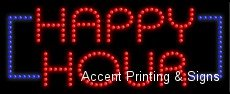 Happy Hour LED Sign (High Impact) [Health and Beauty] by Accent Printing & Signs
