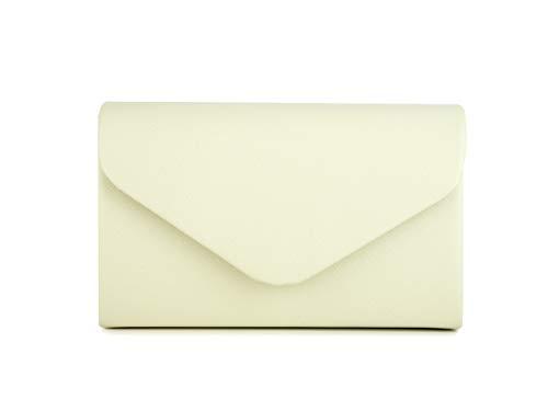Nodykka Handbags Evening Envelope Purses Party Bridal Clutch Shoulder Crossbody Bags for Women (Beige-PU)
