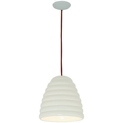 Original btc hector bibendum pendant light size 3 white red cable