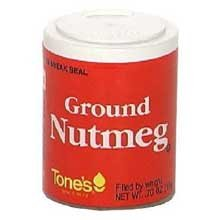 Tones Ground Nutmeg - 0.6 oz. jar, 144 per case by Tone Brothers