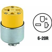 Leviton 620ca Armored Connector, 20-amp, 250-volt, 2-pole, 3-wire, Grounded