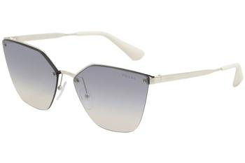 Prada Women's Cinema Evolution Sunglasses, Silver/Blue Silver, One - Blue Sunglasses Prada