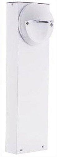 RAB Lighting BLEDR5-18W LED Bollard 18 5W Cool with Round Sled, White
