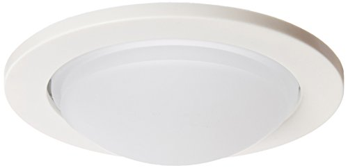 Halo 952PS Trim, Lensed Showerlight, White Trim with Frost Dome Glass Lens, 4""