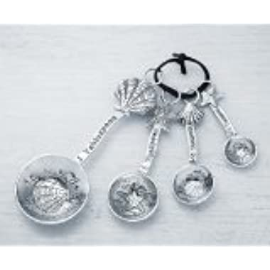 Ganz 4-Piece Measuring Spoons Set, Clam Shell/Starfish