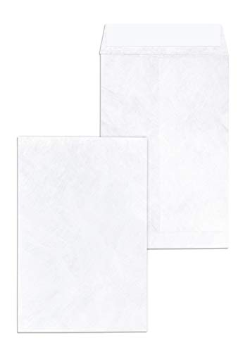 Tyvek Envelopes 6x9 - Strong Lightweight Professional Shipping Mailer Tear Proof Shipping Envelope Easy Self Seal Closure -Bright White Strong Mailing Envelopes - Pack of 15 - 6 x 9 Inch