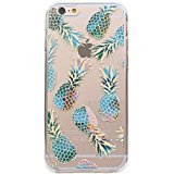 iPhone 7 , Colorful Rubber Flexible Silicone Case Bumper for Apple Clear Cover - Blue Pineapple