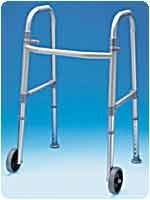 Adult Dual Paddle Walker W/Wheels And Glides by Carex Health Brands