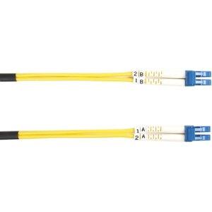 Black Box Single-Mode Value Line Patch Cable, LC-LC, 2-m (6.5-ft.) - Fiber Op