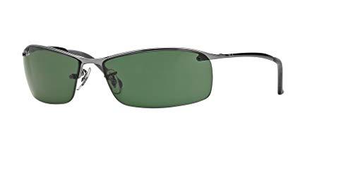 Ray-Ban RB3183 004/71 63M Gunmetal/Green Sunglasses For Men