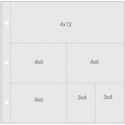 Bulk Buy: Simple Stories (3-Pack) Sn@p! Pocket Pages For 12X12 Binders 10/Pkg (1) 4X12, (3) 4X6, (2) 4X3 Pockets SS4056