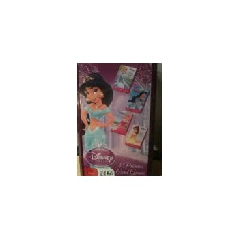 "Disney Princess 4 in 1 Card Games Set -""Old Maid"", ""Go Fish"" ,""Crazy Eights "", ""Memory Match in Plastic box by Cardinal"
