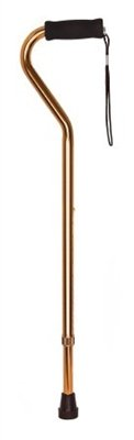 Offset Padded Handle Cane, Bronze Finish, Adjustable 30 to 39 Inch, -