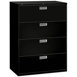 500 Series Five Drawer - HON 694LP 600 Series 42-Inch by 19-1/4-Inch 4-Drawer Lateral File, Black