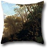 18 X 18 Inch / 45 By 45 Cm Oil Painting Llu%C3%ADs Rigalt - Landscape With Woods Throw Pillow Case,2 Sides Is Fit For Family,teens Girls,indoor,club,family,bedroom