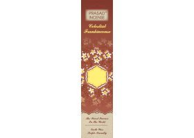 Prasad Celestial Incense 3 each of Sandalwood, Frankincense, Patchouli, Lavender-case of 12