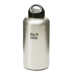 Klean Kanteen Wide Mouth Stainless Steel Water Bottle (64-Ounce)