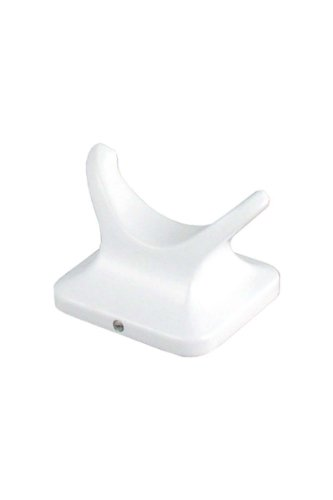 LDR 162 8662 Prestige Double Robe Hook, White by LDR Industries