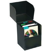Print File Flip-top CD Storage Box, Holds Approximately 50 Sleeved CDs, Archival. by Print File