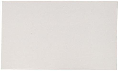 BAZIC 100 Ct. 3″ X 5″ Unruled White Index Card