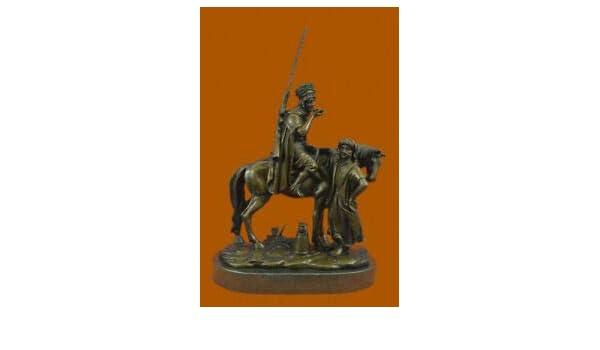 Eastern Arab Man Art Horse With Woman Bronze Sculpture Scene Bronze Decor Deal