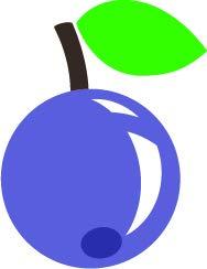 Grape Border Flat - Cute Sweet Yummy Delicious Fruit Cartoon Vinyl Sticker, Purple Grape