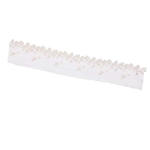 (Lace Embroidered Trim Floral Leaf Tulle Applique for Clothes Sewing)