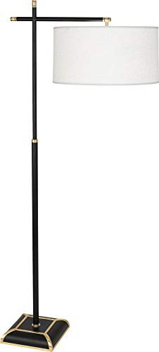 Robert Abbey Ranger Matte Black Painted Metal Floor Lamp