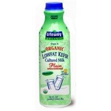 Lifeway Organic Probiotic Low Fat Plain Kefir, 32 Ounce - 6 per case.