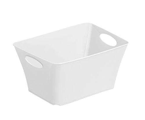 Rotho 1794801100 Design Aufbewahrungsbox Living aus Kunststoff PP, universell einsetzbar, 1.5 L, circa 18 x 13.5 x 9 cm, weiß
