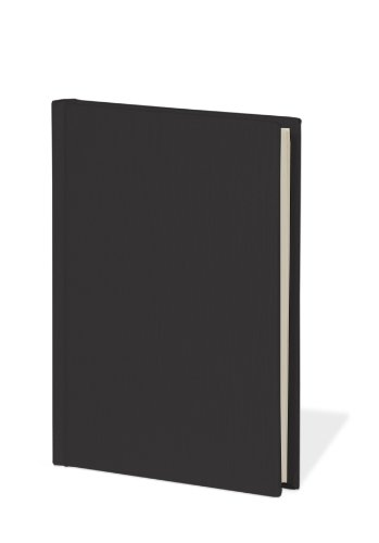 Book A6 unlined black +++ 80 sheets stamped hand made paper (blank) +++ stylish SKETCH- and NOTEBOOK +++ Quality made by Semikolon