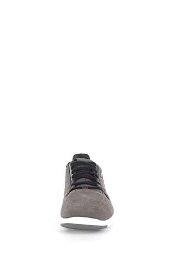 Geox A 2fit da Scarpe Black Basse Grey U Uomo Xunday Ginnastica qq4txgT