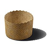 Panettone Paper Molds by Ecobake | Paper Souffle Cups and Paper Muffin Cups | Versatile Design | Non Stick, Microwave Safe, Freezer Safe | Size W2.36'' x H1.77'' 70gr | (100 Pieces)