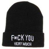 Toynk FCK You Very Much Fashion Beanie Hat Black
