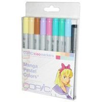 - Copic Markers 9-Piece Ciao Manga Set, Pastel