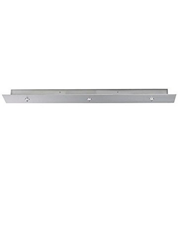 - Tech Lighting 700FJLD3TS FreeJack Linear Long Canopy 3-port, Satin Nickel by Lumtopia--DROPSHIP